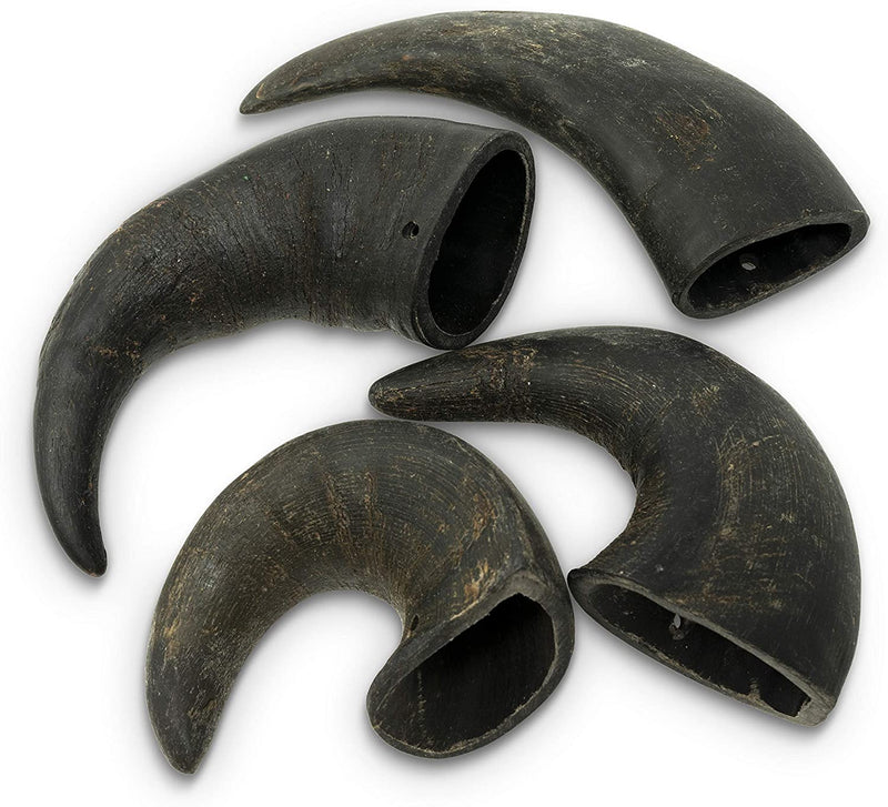 WATER BUFFALO HORN, 4 PACK,  MEDIUM