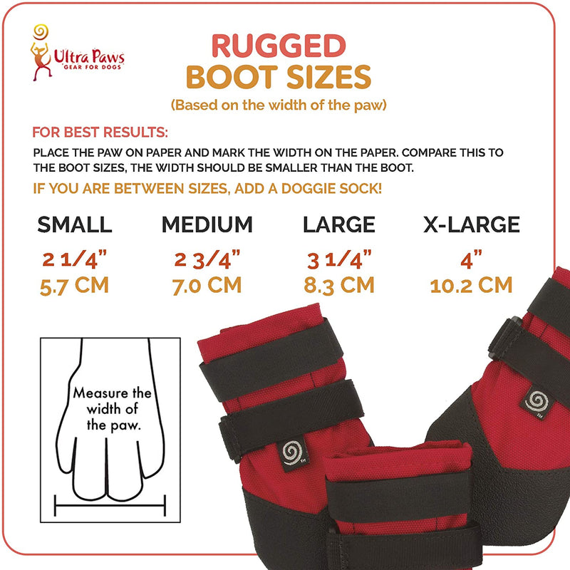 RUGGED BOOT, RED, SMALL