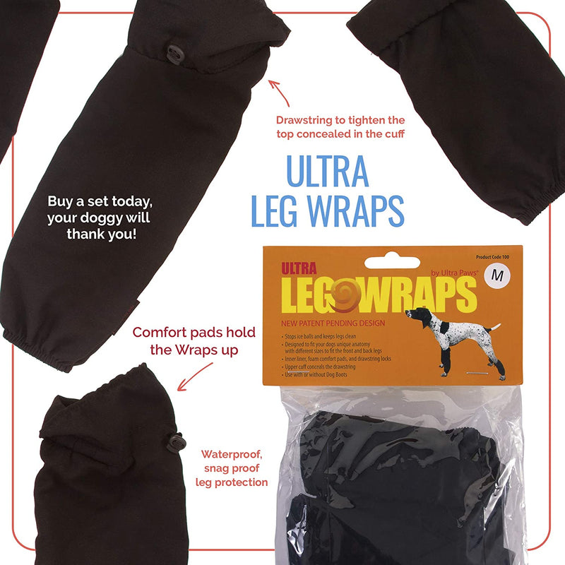 LEG WRAPS, BLACK, XLARGE