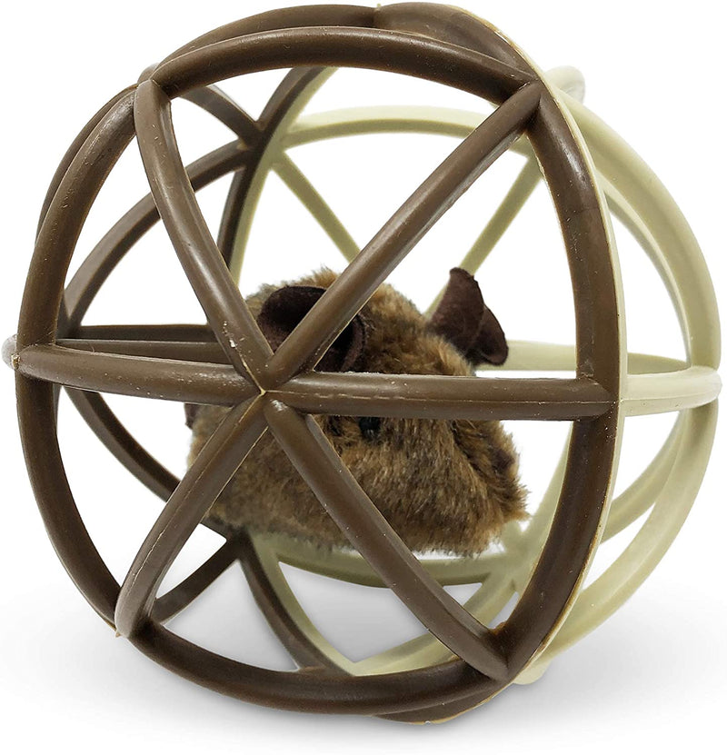 BALL OF FURRY FURY CAGED MOUSE TOY