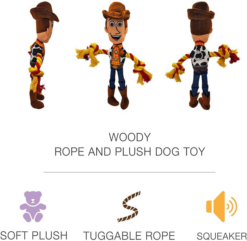DISNEY'S TOY STORY 4 - WOODY ROPE/PLUSH DOG TOY
