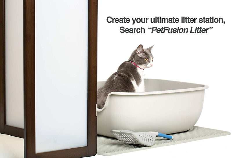 PetFusion | Modest Cat Litter Box Privacy Screen | Brown