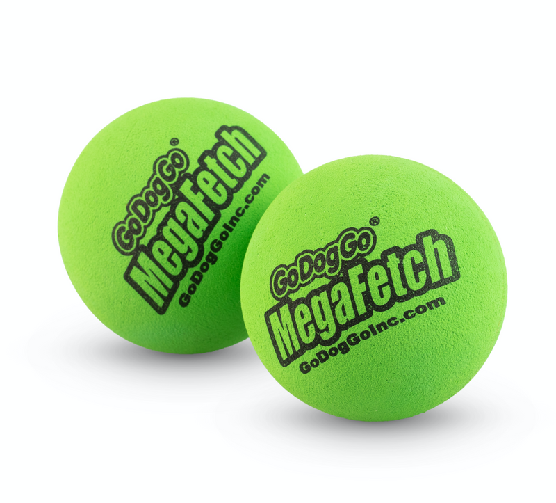 "MEDIUM MEGA FETCH BALL 2.5"" SET OF 2"