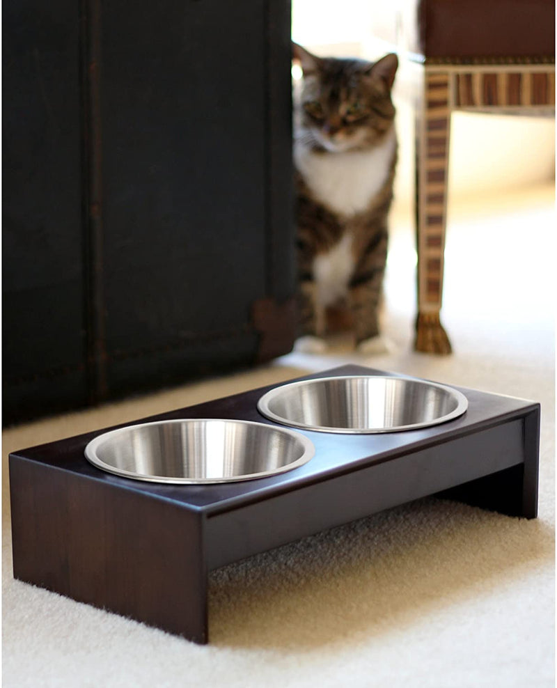 PetFusion | Raised Feeder in Bamboo | Brown | Short 4""