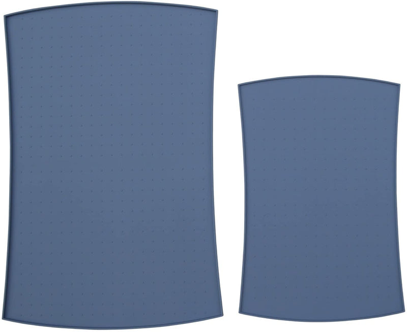 Pet Food Mat in Silicone (Large, Blue)
