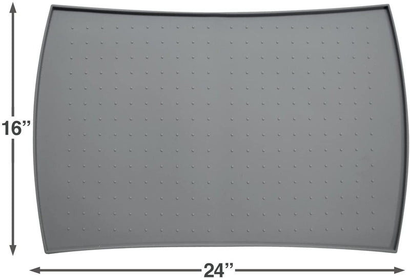 PetFusion | Pet Food Mat in Silicone | Large | Gray