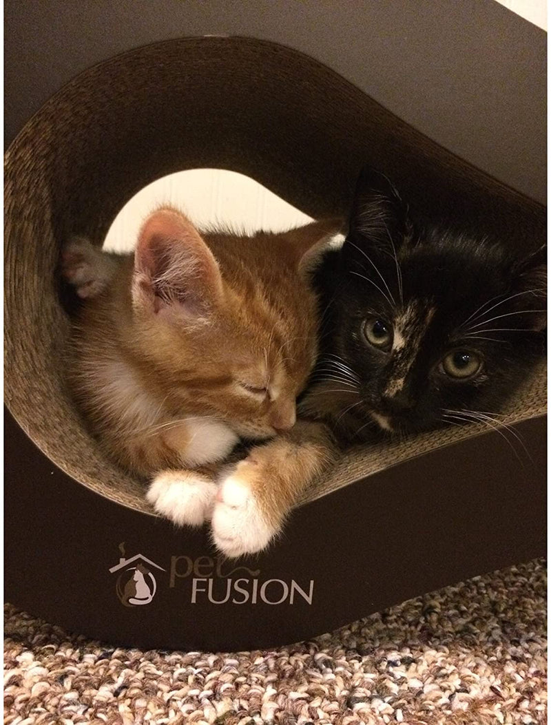PetFusion | Ultimate Cat Scratcher Lounge | Walnut Brown
