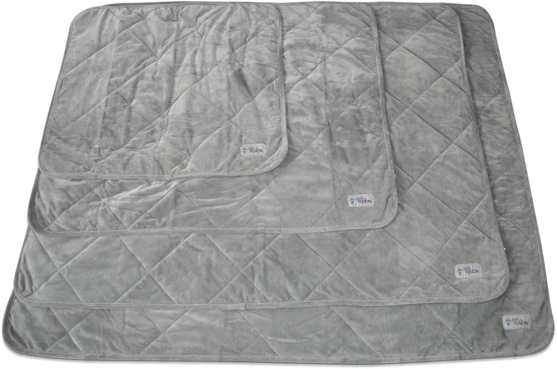 PetFusion | Microplush Quilted Pet Blanket | L | Gray