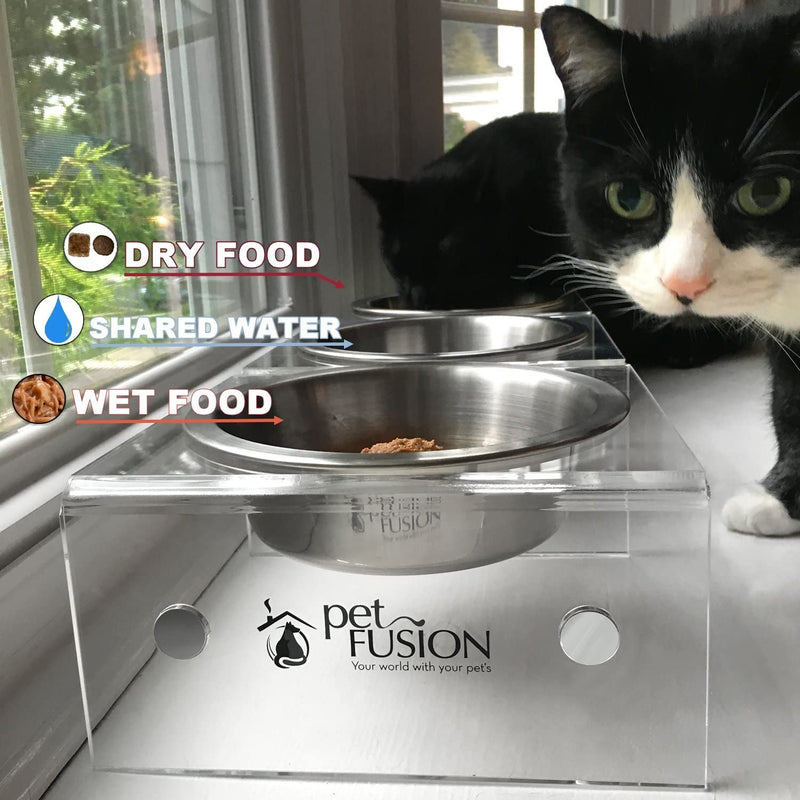 SinglePod Feeder in Acrylic (Cat dish, single)