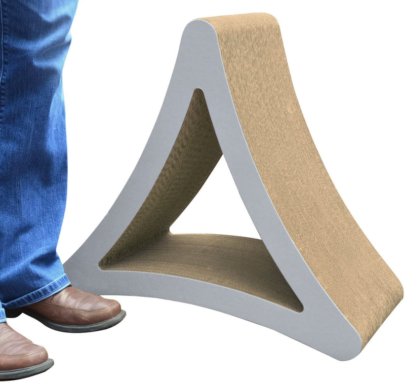 PetFusion | 3-Sided Vertical Scratcher | Large | Warm Gray