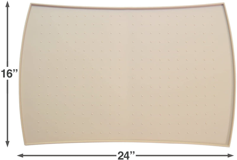 PetFusion | Pet Food Mat in Silicone | Large | Beige