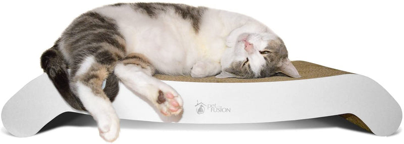 PetFusion | Flip Lounge Scratcher | Large | White