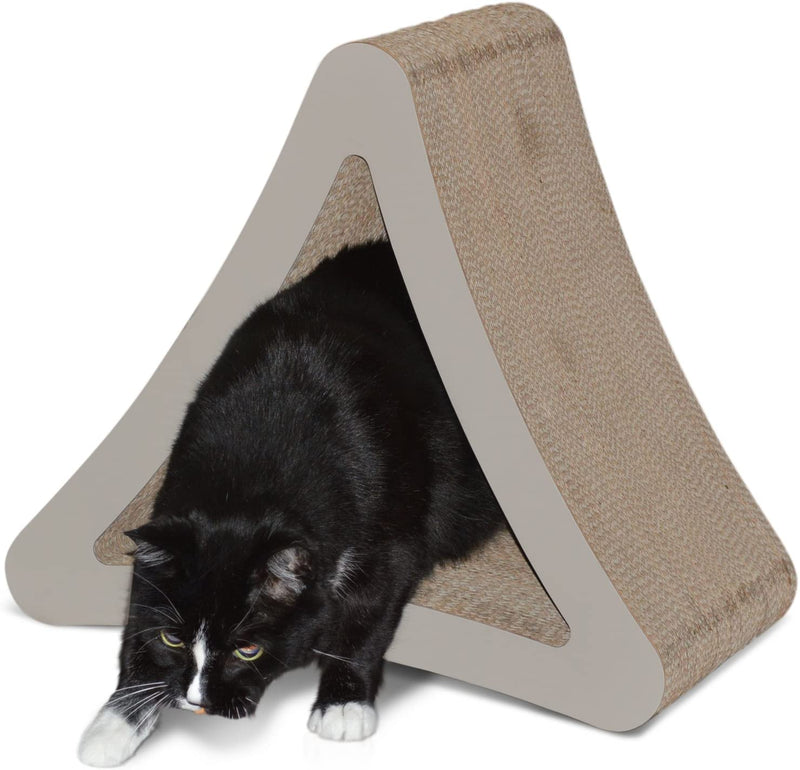 PetFusion | 3-Sided Vertical Scratcher | Standard | Warm Gray