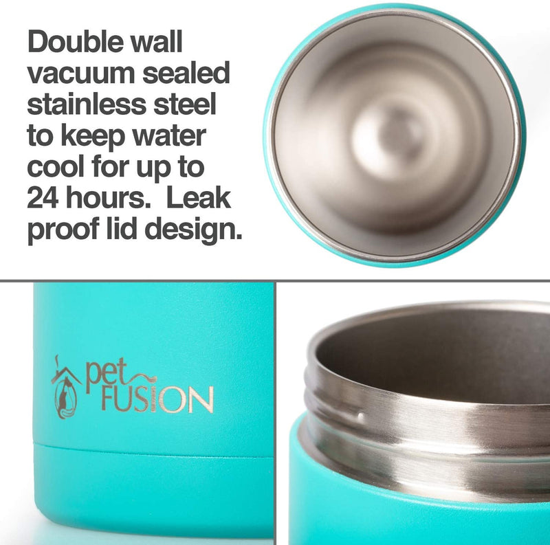Pet travel bottle (mint)