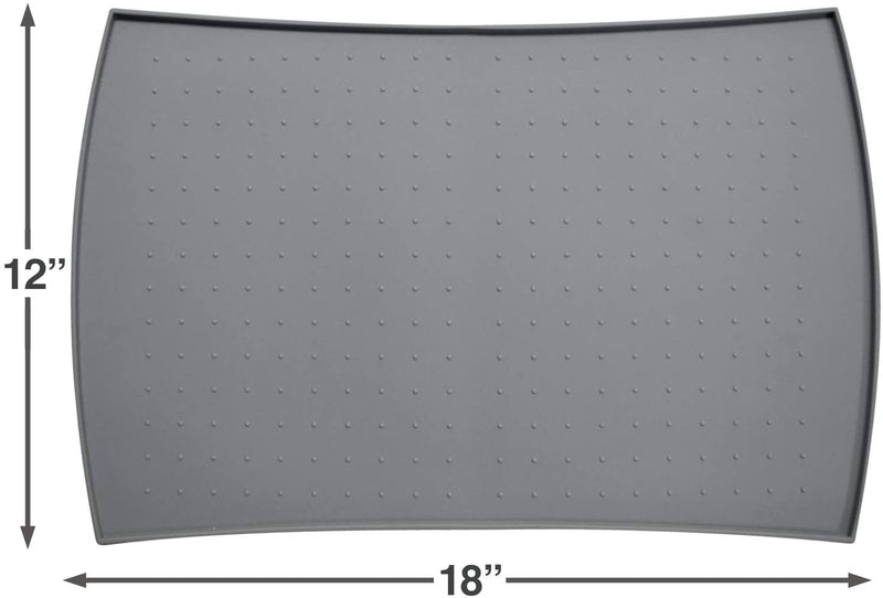 PetFusion | Pet Food Mat in Silicone | Small | Gray