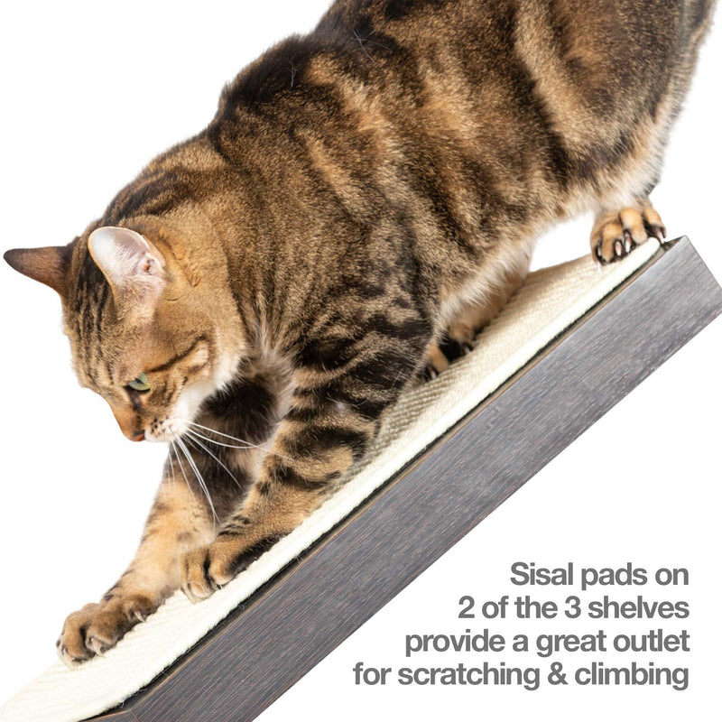 PetFusion | Cat Activity Wall Shelves | Set of 3