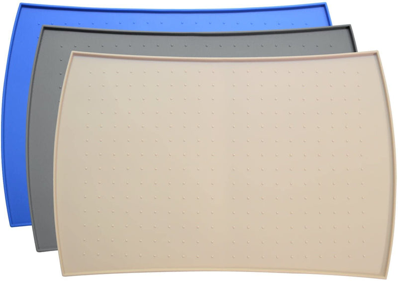 Pet Food Mat in Silicone (Small, Beige)