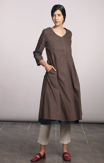 Tunic Dress Cinnamon with pants