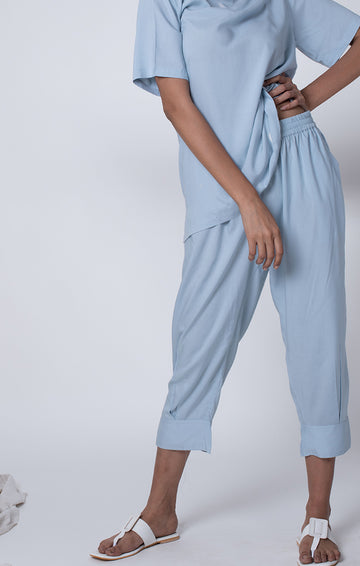 Mid Calf Pants - Dusty Blue or Sage Green