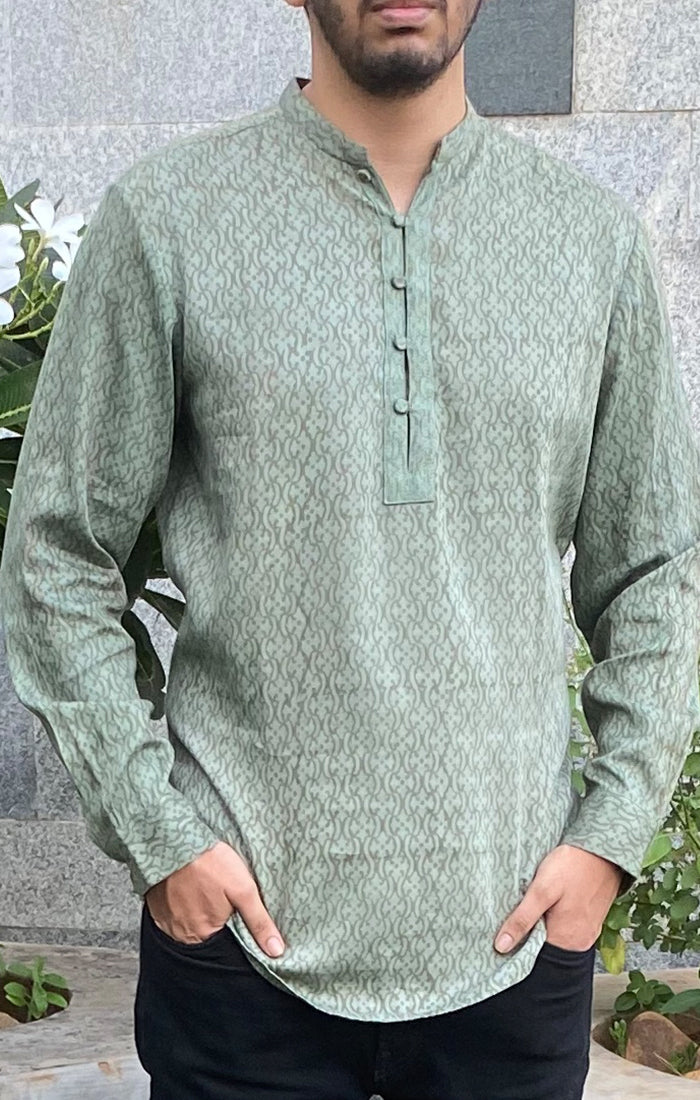 Jade green Short Kurta