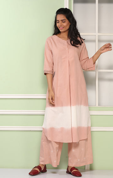 Flamingo Pink Tunic Dress with Pants