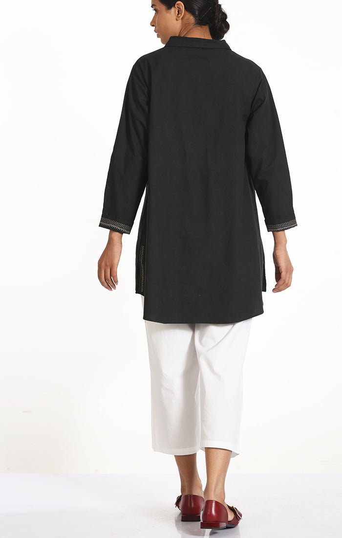 Black Organic Cotton Top