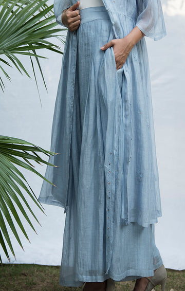 Flared Palazzo - Powder Blue