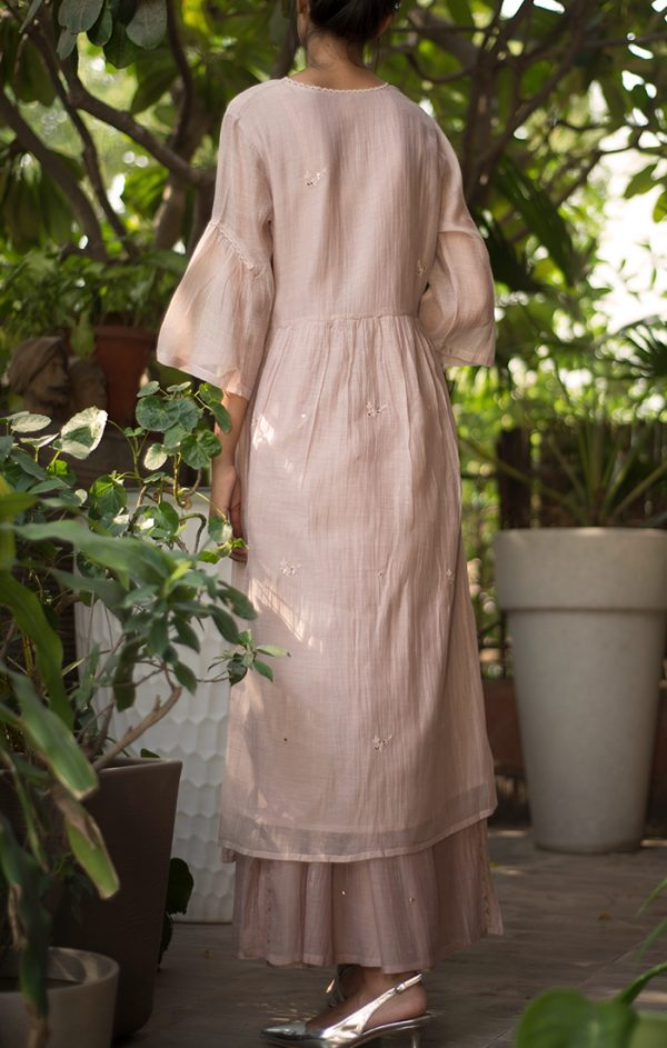 Mid Calf Tunic Dress Pink