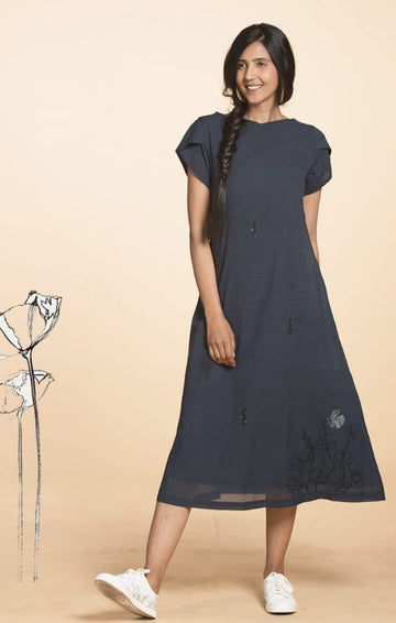 Midnight Blue Shift Dress