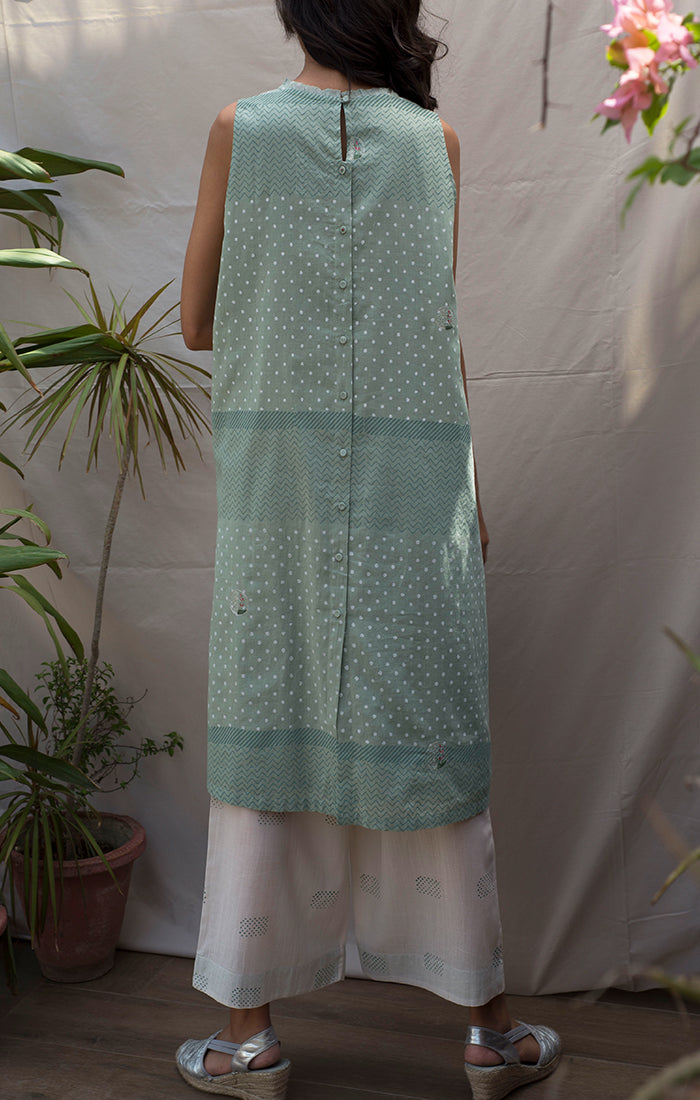Mint Green Tunic/Dress with Pants