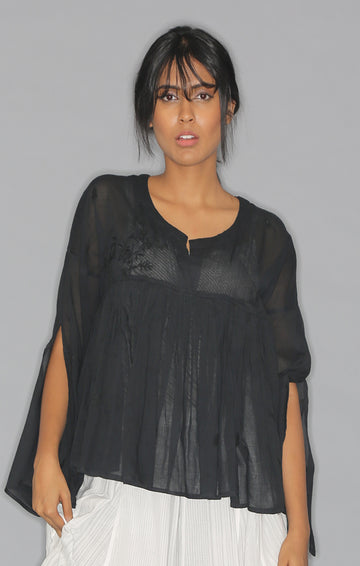 Kedia Top - Black with Slip