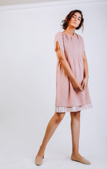 Pinktuck shift Dress - Dusty Pink