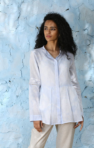 Powder Blue Shibori Shirt