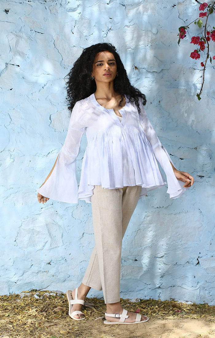 Powder Blue Kedia Top