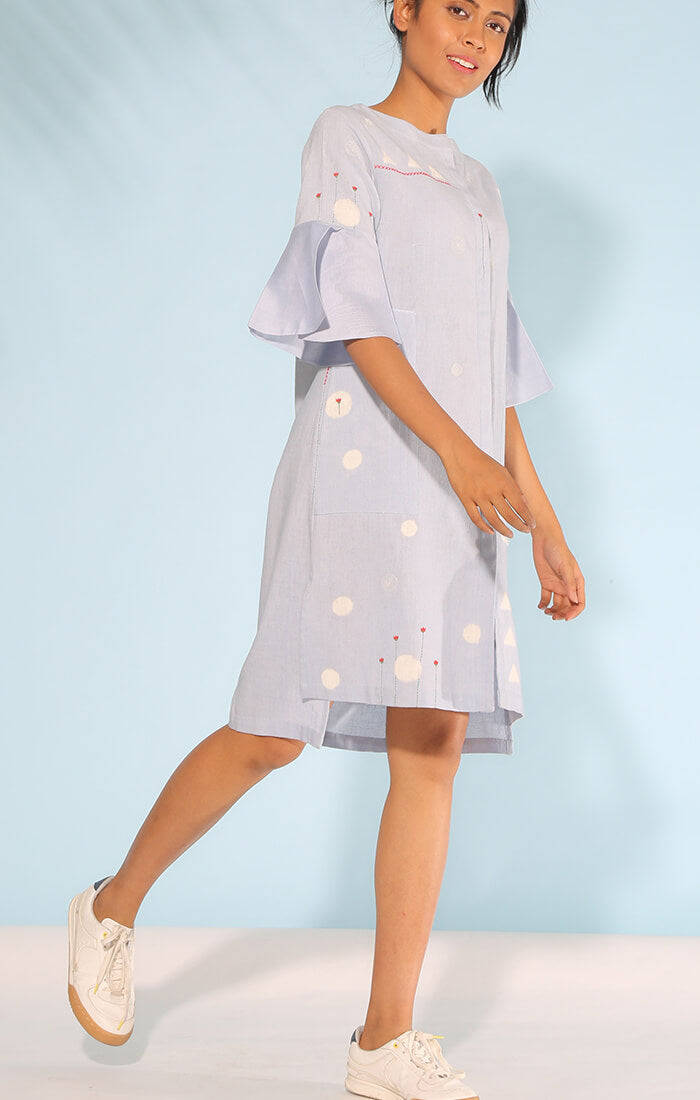 Powder Blue Shift Dress