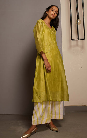 Citron Green Tunic/Kurta