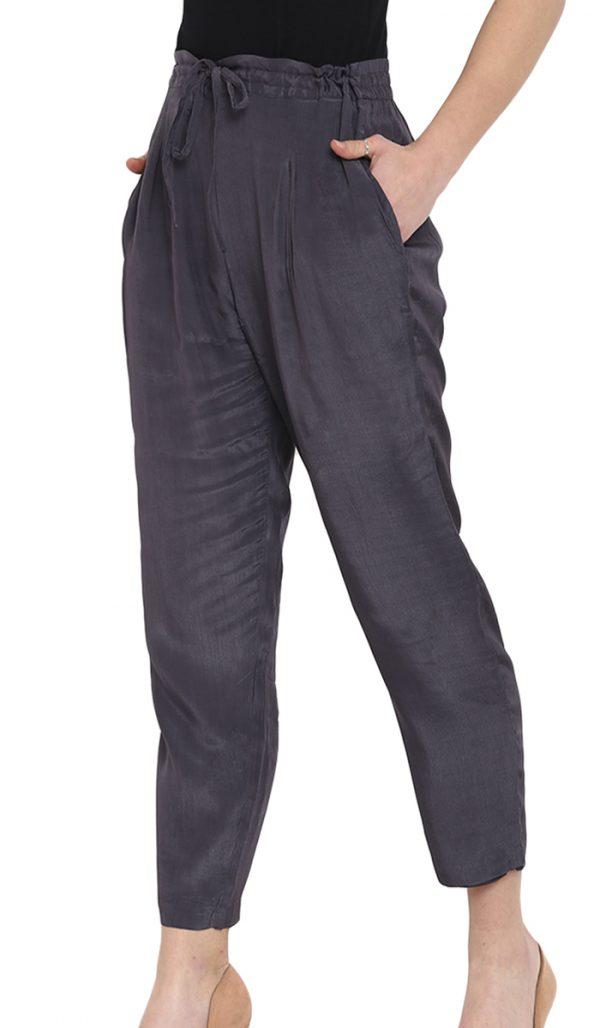 Silk Pants Grey