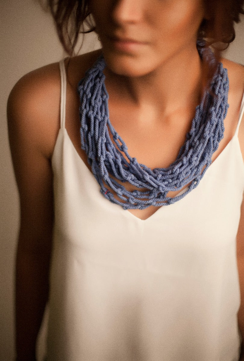 Macrame Knots - Powder Blue