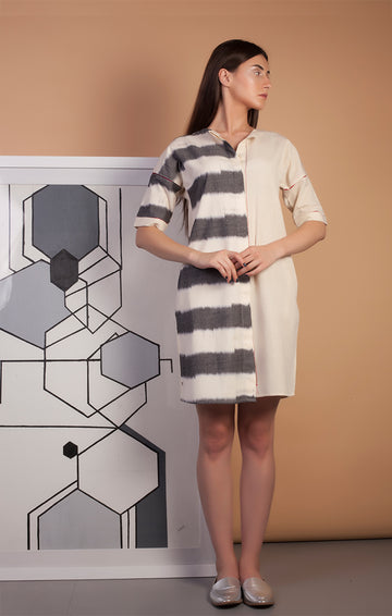 Boxy Fit Shirt Dress