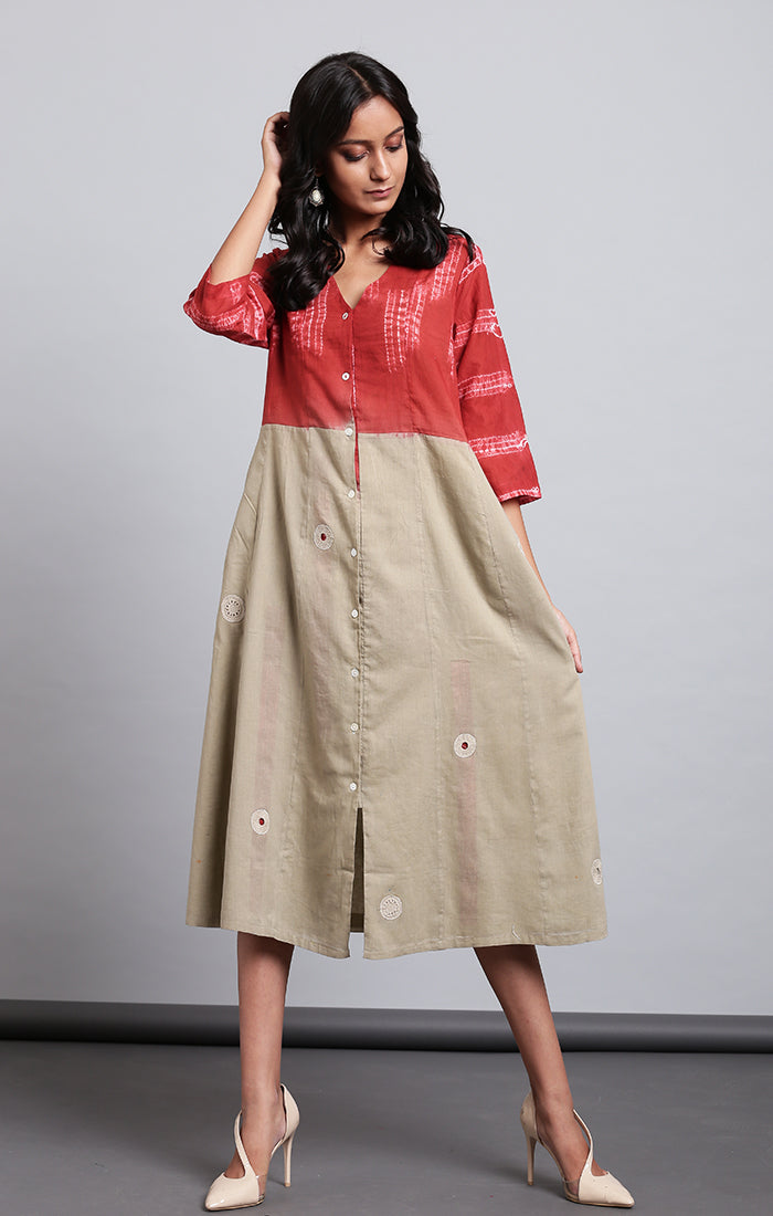 Rust Madder Shirt Dress