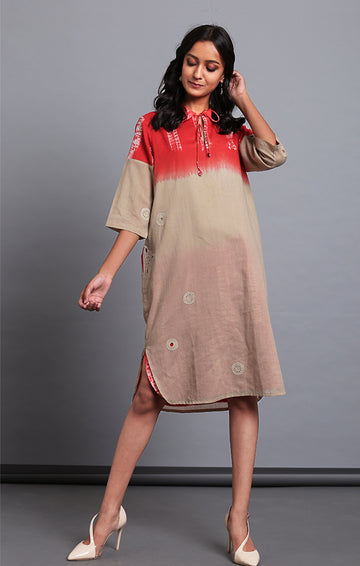 Rust Madder Tunic Dress
