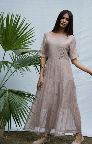 Tiered Maxi Dress - Chanderi