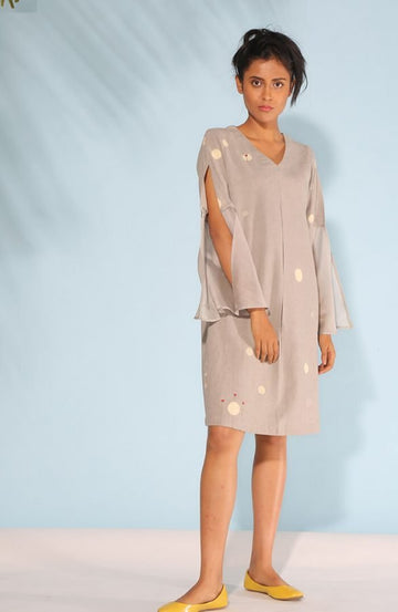 Dusty Grey Shift Dress