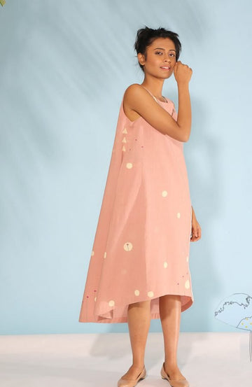 Dusty Pink A line Dress