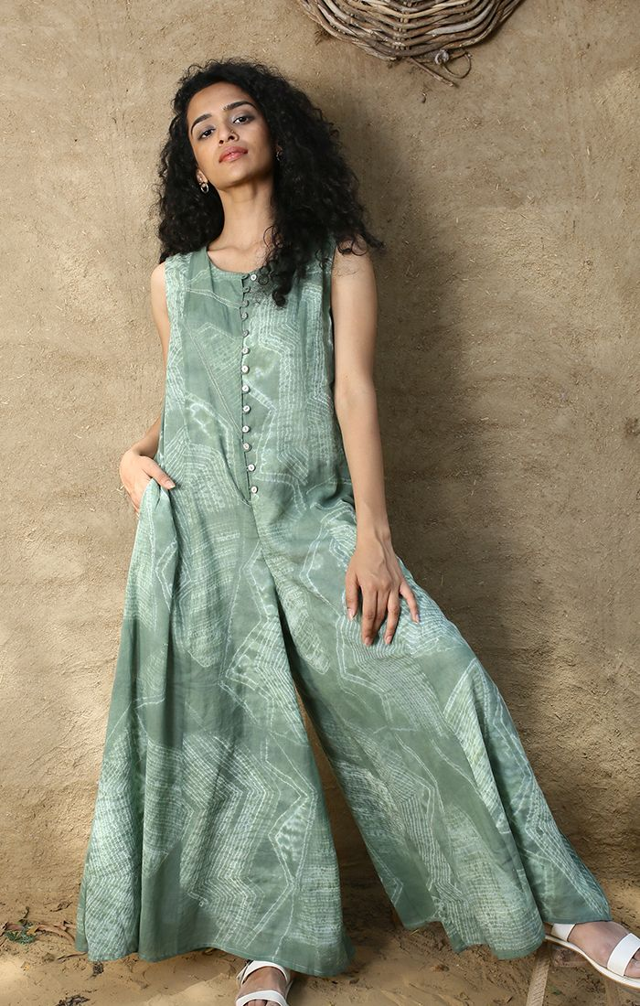 Jade Green Jumpsuit with Lining