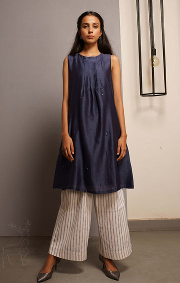 Midnight Blue Tunic Dress