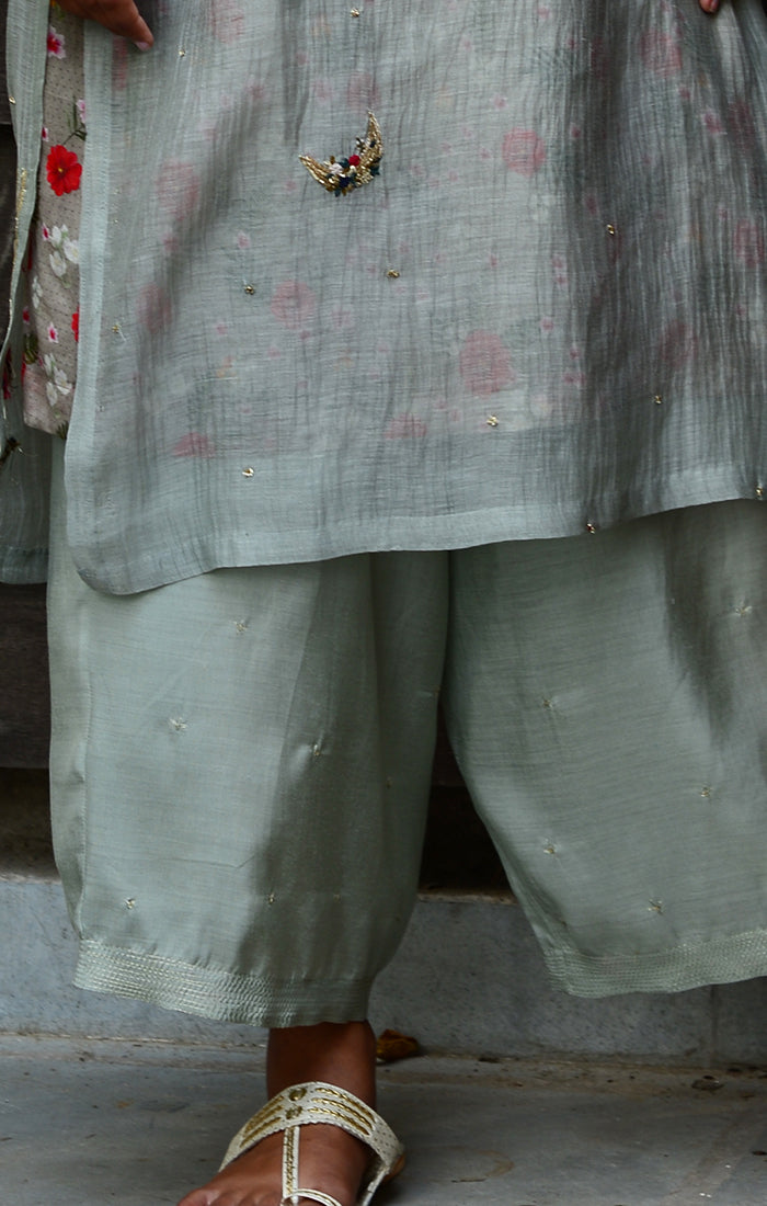 Soft silk pale Grey pants