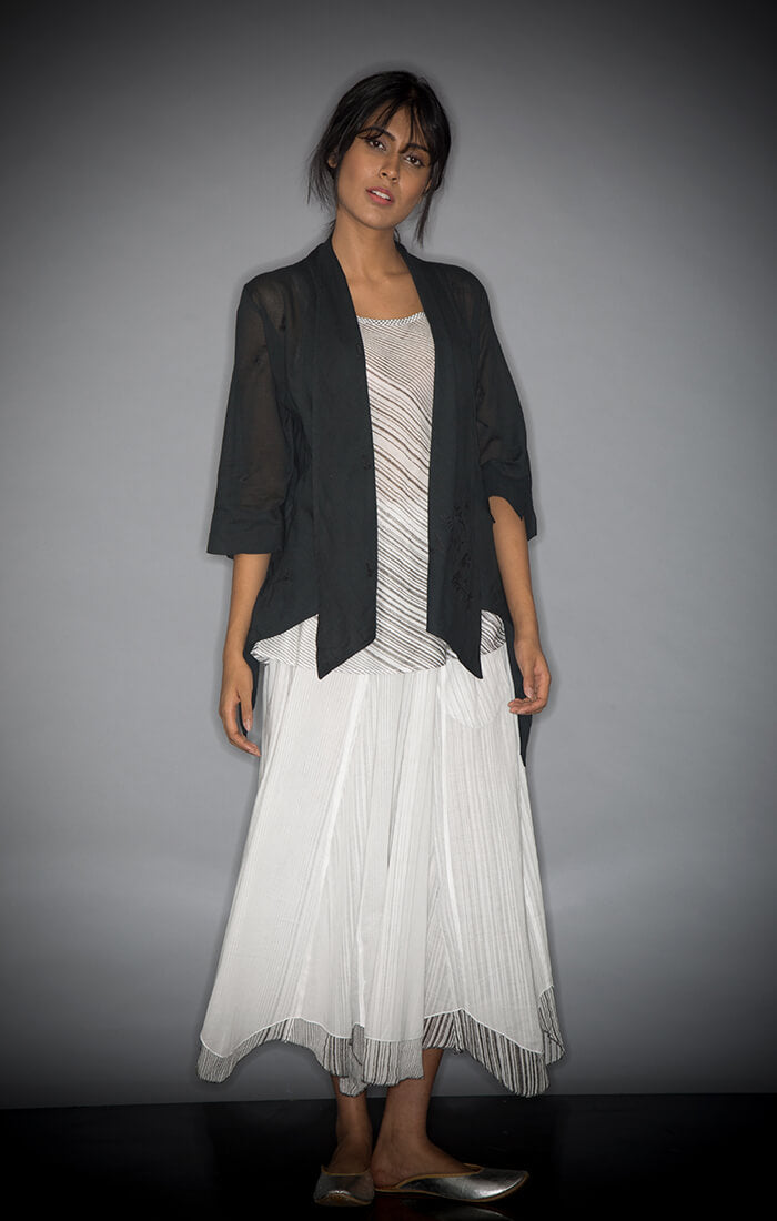 Black Overlay with Slip and Skirt