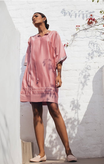 Tunic/Dress in Dusty Pink