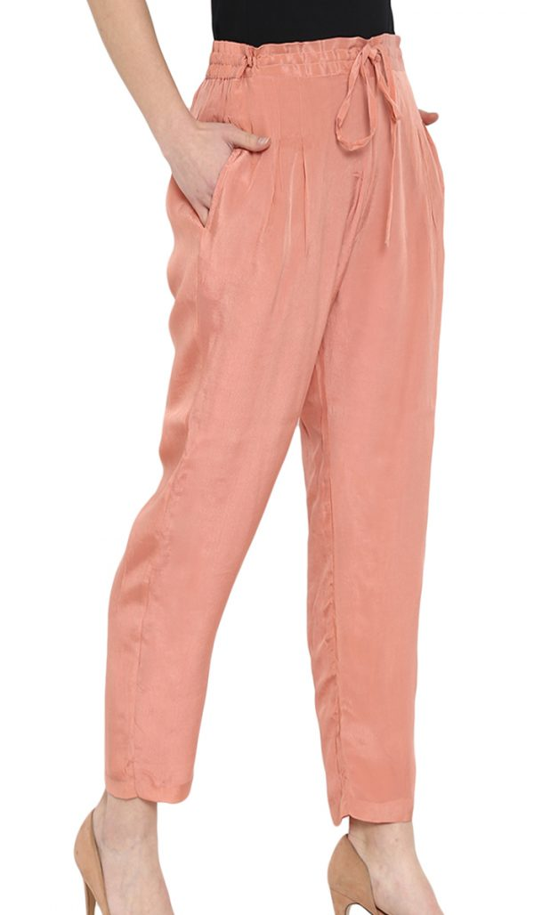Silk Pants Teal/Pink/Charcoal